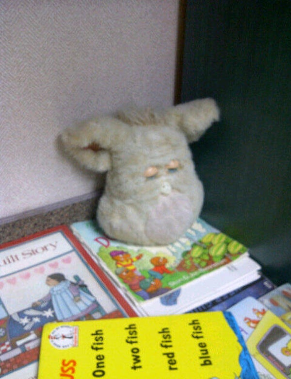 How boring can a waiting room be when there's a Furby in it?
