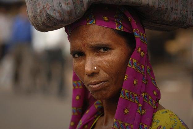 1. Woman in Delhi, India.