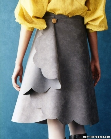 This suede skirt requires tracing and cutting, but not sewing.