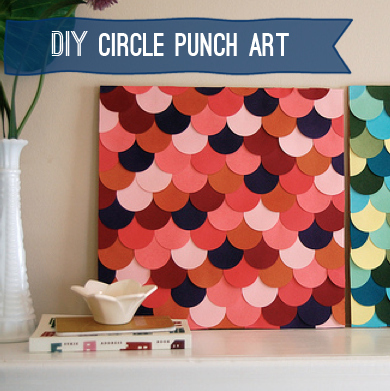 Collage paper circles into a happy piece of art.