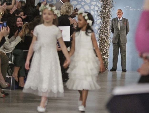 WHATEVER you wear, just make sure you blur out the flower girls in the photos so nothing takes away from the star attraction.