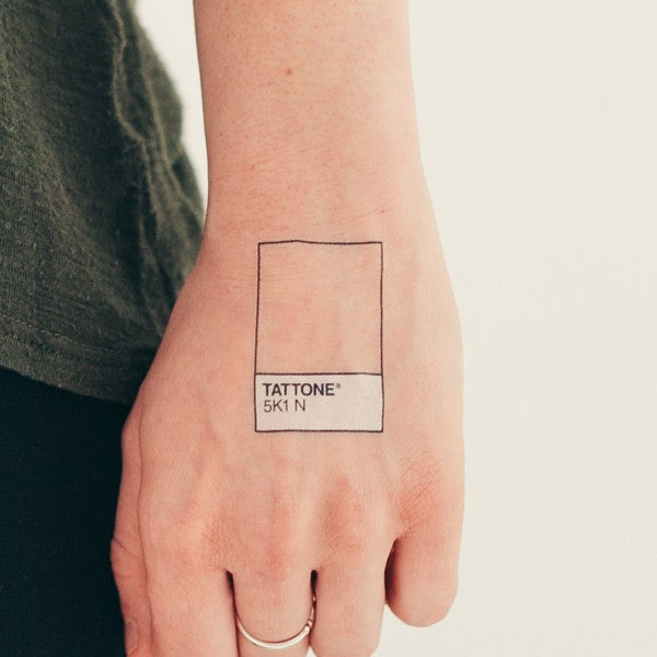 A ton of the tattoos in this post come from Tattly, an incredible site where contributing artists get a cut of every sale. It's run by Brooklyn-based Tina Roth Eisenberg, of the wonderful swiss-miss blog. Get these ones here.