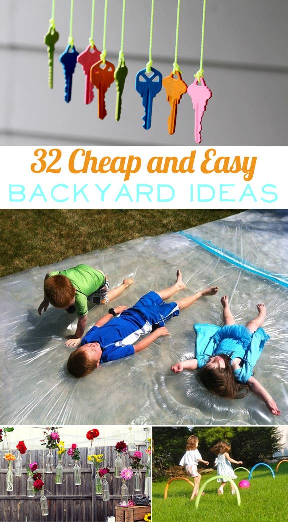 Cheap And Easy Backyard Ideas That Are Borderline Genius - Fun backyard ideas