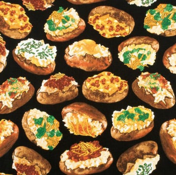 """""""Hot out of the oven—sew these loaded baked potatoes into something delicious."""""""