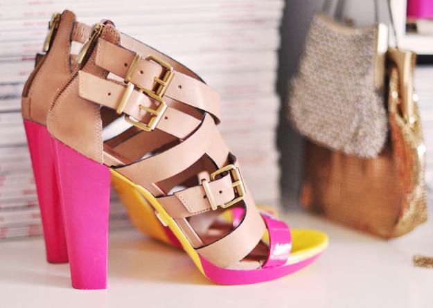 Neon Strappy Heels