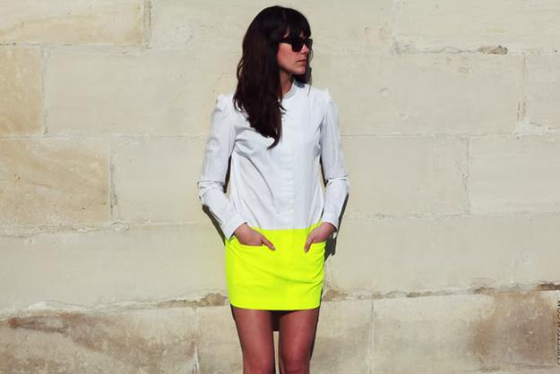 Neon Bi-Color Dress