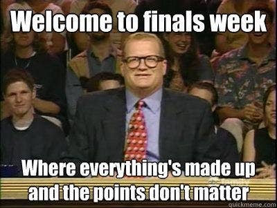 The 33 Stages Of Finals Week