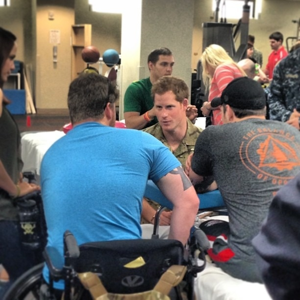 Prince Harry Visits Wounded U.S. Veterans