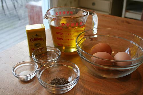 Although! For the record! Homemade mayonnaise and/or aioli is far, far superior to the store-bought kind — often palatable, occasionally delicious.*mass producers of mayo pasteurize the eggs first, which is why mayo is eerily shelf-stable
