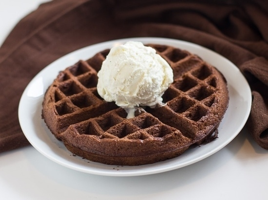 Make a decadent waffle out of brownie mix.