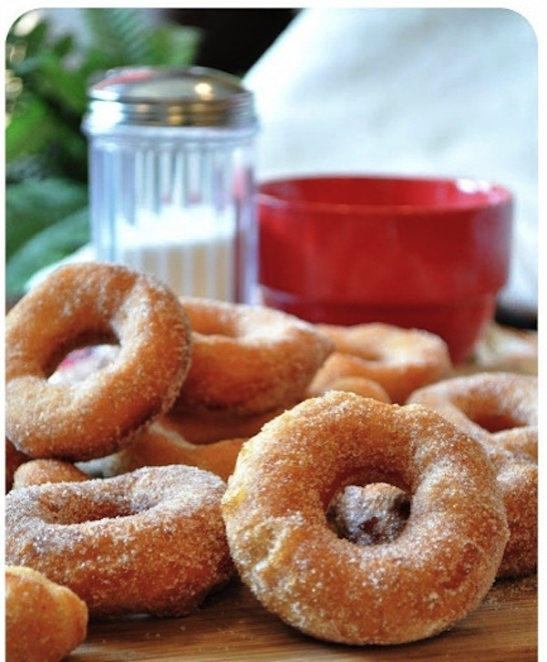 Turn frozen biscuits into doughnuts.