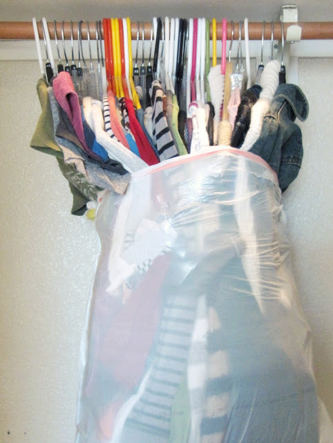 The fastest way to pack a closet: