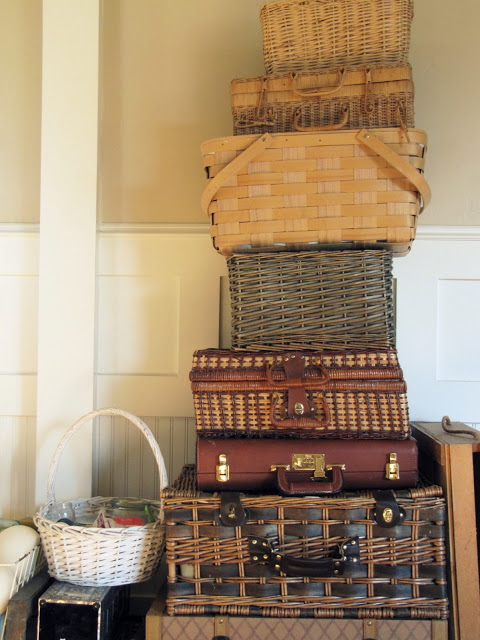 Cut down on boxes by making all of your baskets, laundry bins, hampers, and suitcases work for you.