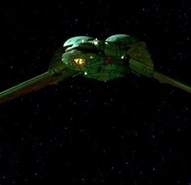 A Klingon Bird of Prey from the original Trek movies
