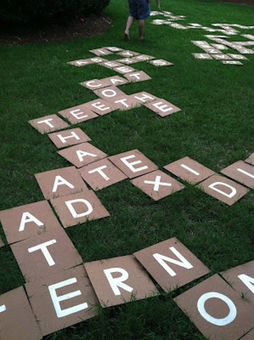 Just cut out the letters together and prepare for some major scrambling.