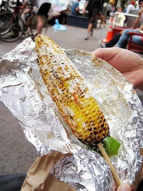 Eat Mexican street corn.