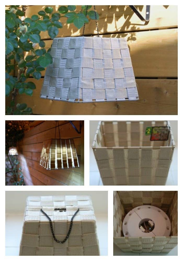 Turn a dollar store basket in beautiful lighting with a simple chain and light check