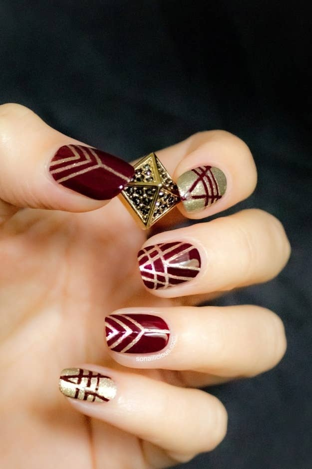 26 gorgeous great gatsby inspired manicures 3 prinsesfo Choice Image