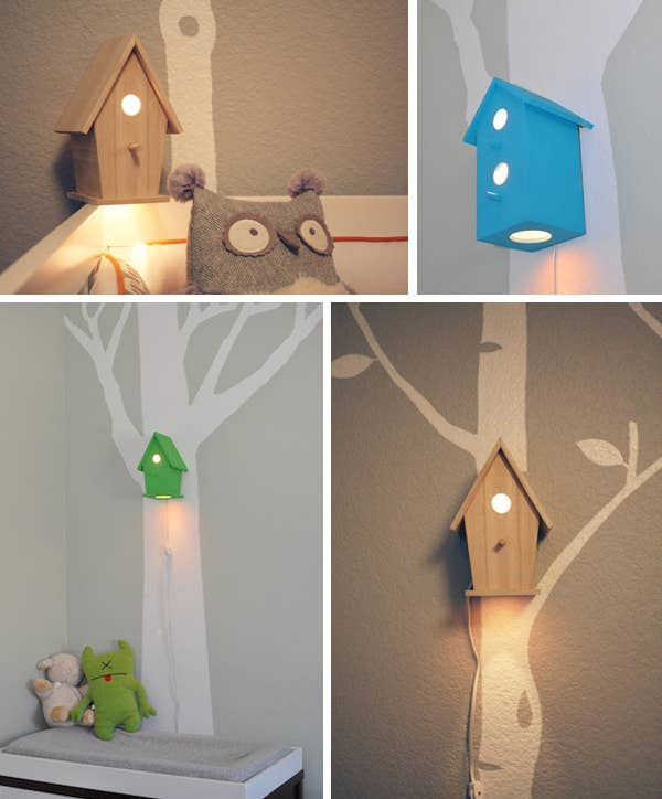 1 Baby Birdhouse Lamp
