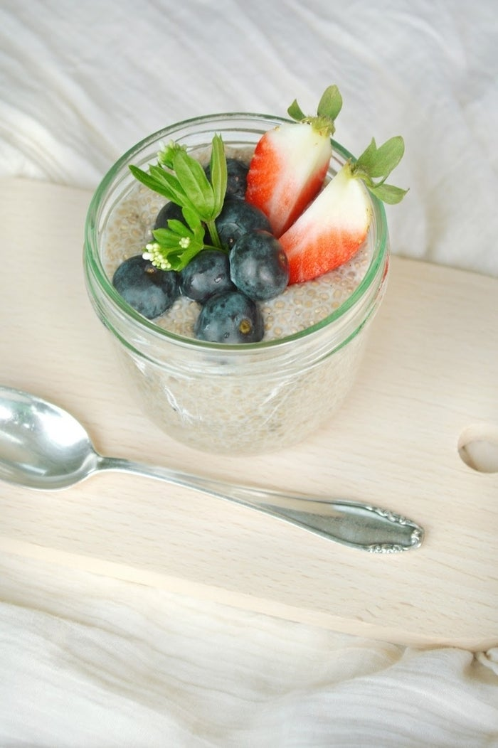 It's like tapioca pudding without the calories, and you can eat it for any meal of the day. You can even eat it for breakfast!