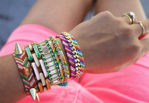 Update Your Old Jewelry By Incorporating Them Into Friendship Bracelets The Tutorial Can Be