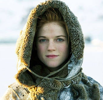 As Ygritte on Game of Thrones