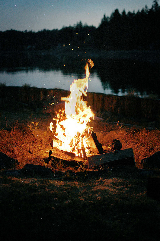 Hang out around a fire and drink whiskey.