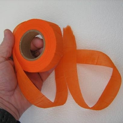 If you're going to be hiking, use this biodegradable trail-marking tape.