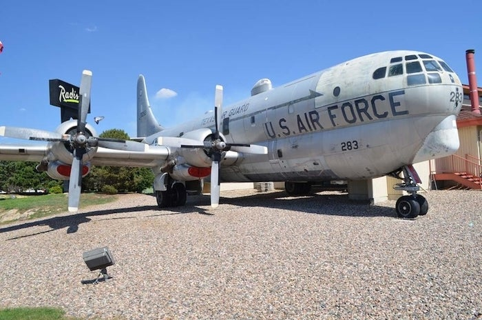 Refuel yourself inside this 1953 Boeing KC-97 tanker, now an aviation-themed restaurant. Visit Colorado Springs to snag one of the 42 seats inside this aircraft that has flown the world over, and read the menu for a history lesson!
