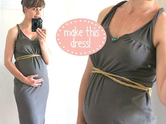 Быстро сшить платье для беременных своими руками 3