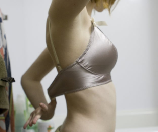 If you can't comfortably fit two fingers under the band of your bra, it is too tight. If you can fit your entire fist under the band, it's too loose.