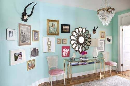 1 mix photos art and other trinkets for an eclectic eye catcher - Photo Gallery Ideas
