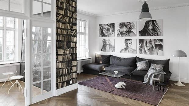 living room portraits. Print family portraits on canvas instead of framing 32 Creative Gallery Wall Ideas To Transform Any Room