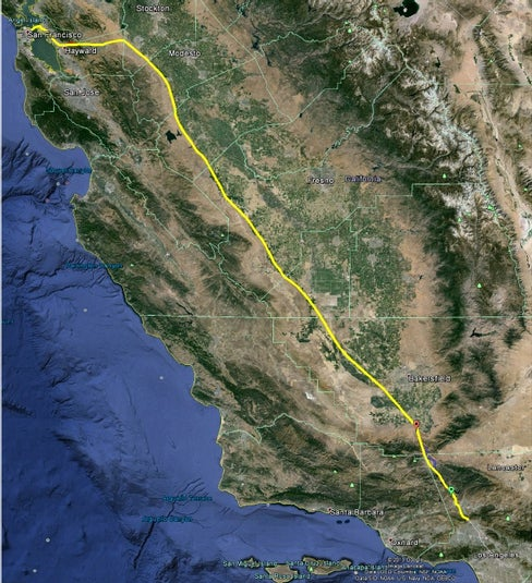 That would avoid the planned $70bn-$100bn California high-speed rail project. Musk said the Hyperlink will cost around a tenth of that – with most of the money being spent on buying the land.