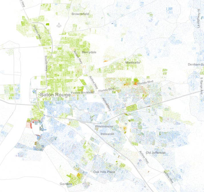 This Map Of Race In America Is Pretty Freaking Awesome - Us census dot map