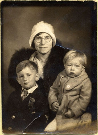 Andy Warhol about the age of 3, with his mother Julia and brother John, 1932. (The Andy Warhol Museum, Pittsburgh; Founding Collection, Contribution The Andy Warhol Foundation for the Visual Arts, Inc.)