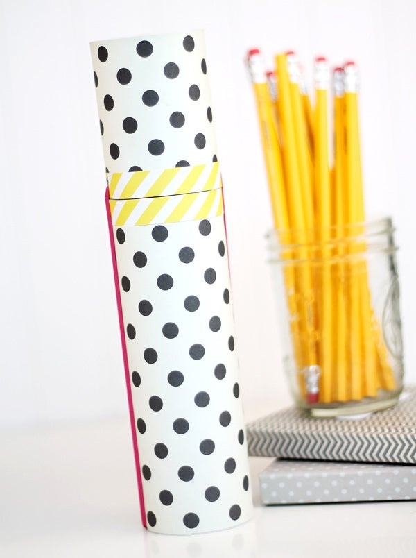 That's it! A stylish and portable pencil holder.