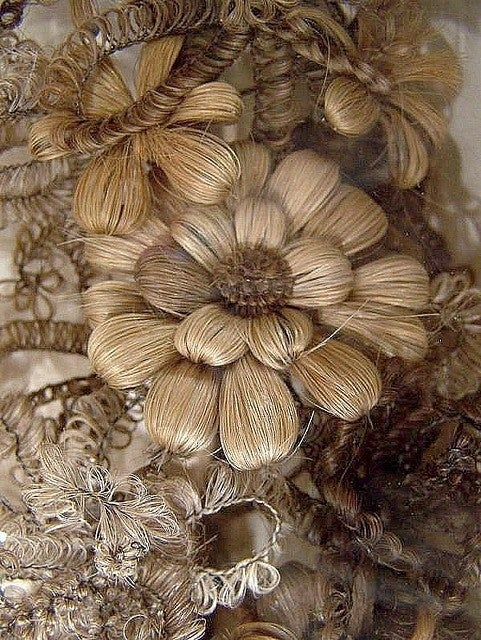 """Hair jewelry began to """"fall out"""" of fashion in the late 19th century. Glad our era bit that bullet!"""
