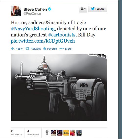 Democratic Congressman Tweets Cartoon Blaming NRA For Shooting