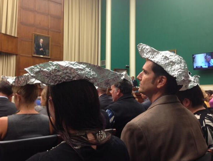 Environmental Activists Wear Tinfoil Hats To Republican Hearing On Climate Change