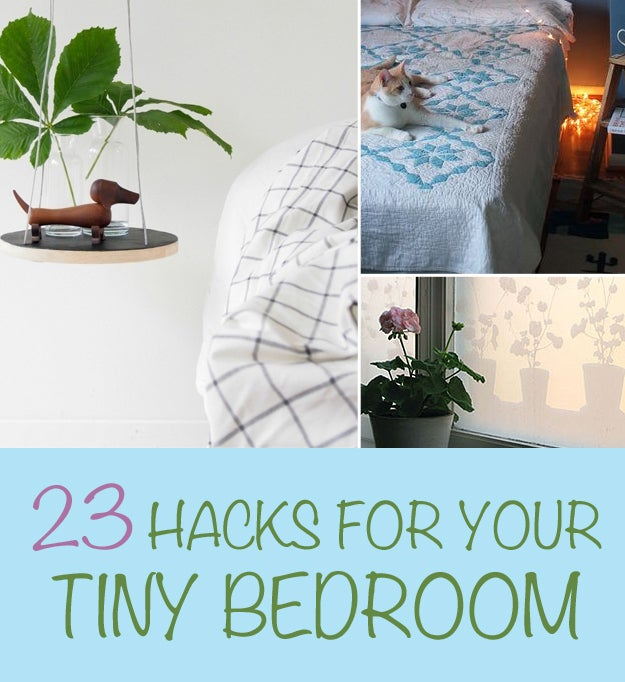 Tiny Bedroom 23 hacks for your tiny bedroom