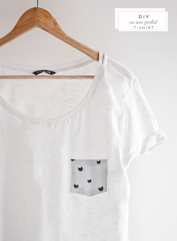 Revamp a white tee with a pocket.
