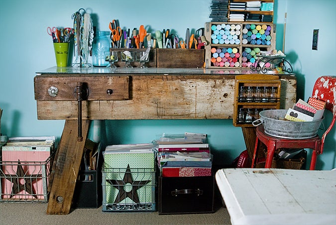 Find out more about Kendra's amazing crafting space here.