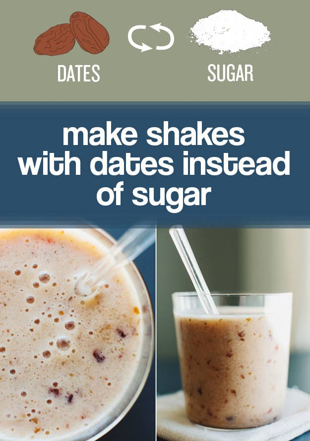 You can drink this date, banana, and coconut shake for breakfast with a clean conscience.