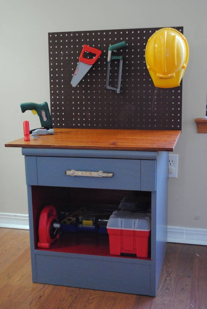 1 This Cool Tool Bench Used To Be A Thrift Store Nightstand