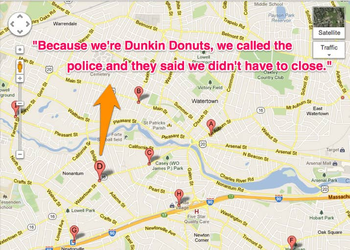 Dunkin Donuts In Boston Stayed Open During Lockdown - Dunkin donuts us map