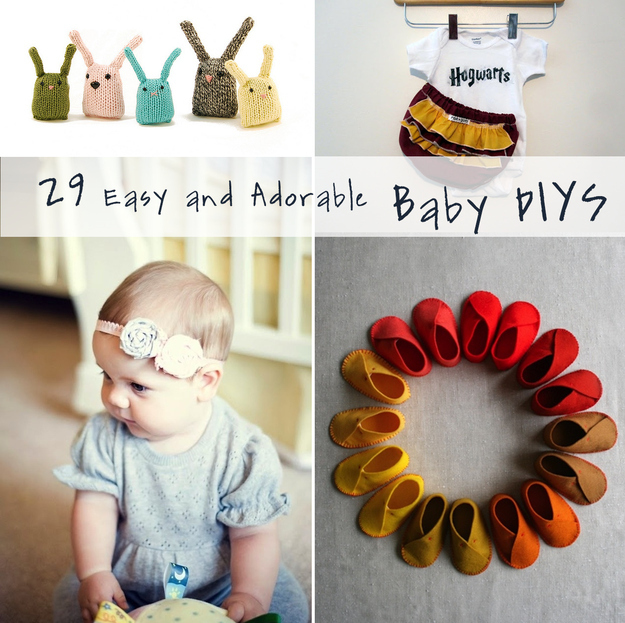 29 easy and adorable things to make for babies for Simple things to make and sell