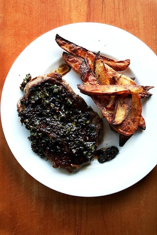 Steak With Balsamic-Caper Vinaigrette