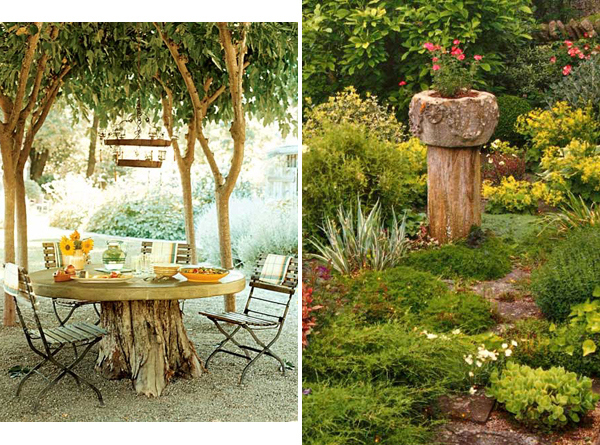 Repurpose your tree stumps.