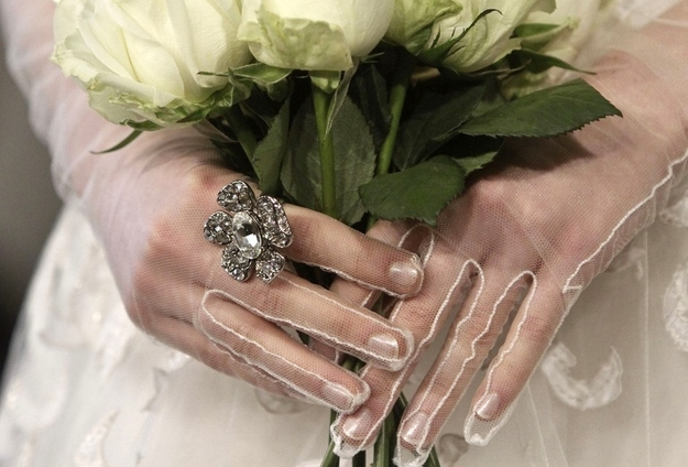 Skip nail art and wear elegant sheer gloves.